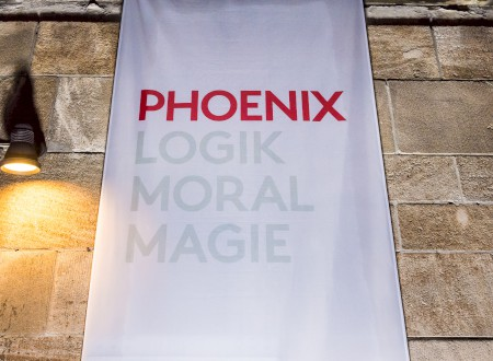 7 - The new logo of Phoenix Design at the BIX entrance: with Logik, Moral and Magic